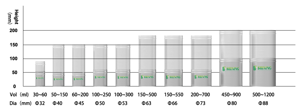 aluminum-canister size chart
